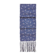 Men's Paisley Silk Scarf in Cobalt Blue. Mens Cashmere & Wool Scarves from Aspinal of London