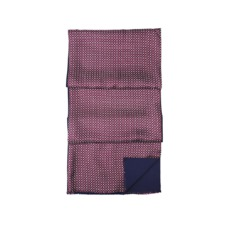 Men's Double Faced Silk & Wool Scarf in Burgundy & Navy. Mens Cashmere & Wool Scarves from Aspinal of London