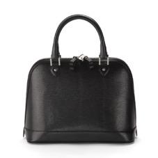 Hepburn Bag in Jet Black Lizard. Handbags & Clutches from Aspinal of London