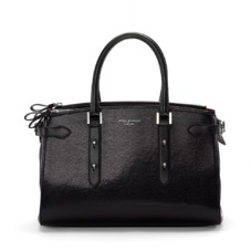 Brook Street Bag in Jet Black Lizard. Handbags & Clutches from Aspinal of London