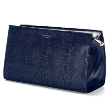 Large Cosmetic Case in Midnight Blue Lizard