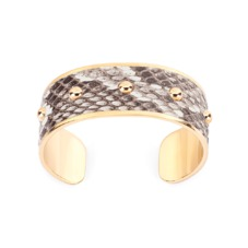 Athena Cuff Bracelet in Natural Python. Cuff Bracelets from Aspinal of London