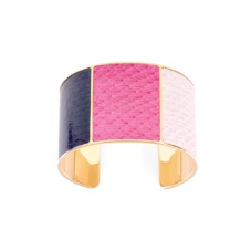 Minerva Cuff Bracelet in Dusty Rose, Pink & Navy Snake. Cuff Bracelets from Aspinal of London