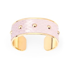 Athena Cuff Bracelet in Dusty Rose Snake. Cuff Bracelets from Aspinal of London