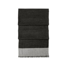 Essential Lightweight Cashmere Blend Scarf in Charcoal Grey. Mens Cashmere & Wool Scarves from Aspinal of London