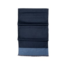 Essential Lightweight Cashmere Blend Scarf in Navy. Mens Cashmere & Wool Scarves from Aspinal of London