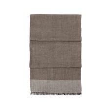 Essential Lightweight Cashmere Blend Scarf in Soft Taupe. Mens Cashmere & Wool Scarves from Aspinal of London