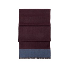 Essential Lightweight Cashmere Blend Scarf in Burgundy. Mens Cashmere & Wool Scarves from Aspinal of London