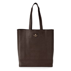 Essential Tote in Brown Pebble. Outlet from Aspinal of London