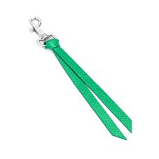 Small Personalisation Strap Key Ring in Grass Green Lizard