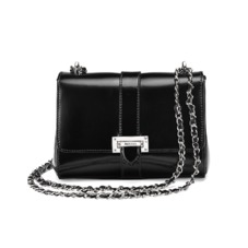 Lottie Bag in Black Polish. Handbags & Clutches from Aspinal of London
