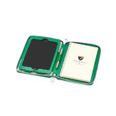 Continental Zipped iPad Mini Case with Notebook in Grass Green Lizard