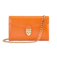 Manhattan Clutch in Orange Lizard. Handbags & Clutches from Aspinal of London