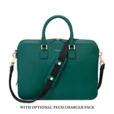 Small Mount Street Bag in Smooth Green. Ladies Business Bags from Aspinal of London