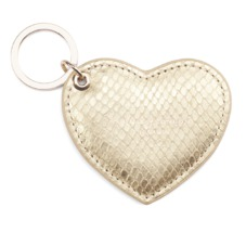 Heart Key Ring in Gold Snake. Outlet from Aspinal of London