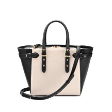 Mini Marylebone Tote in Monochrome Saffiano. Handbags & Clutches from Aspinal of London