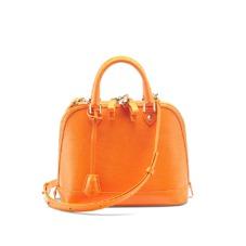 Mini Hepburn Bag in Orange Lizard. Handbags & Clutches from Aspinal of London