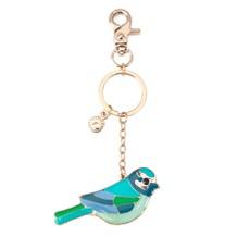 Enamel Bird Handbag Charm & Keyring. Key Rings & Charms from Aspinal of London