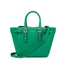 Mini Marylebone in Grass Green Pebble. Handbags & Clutches from Aspinal of London