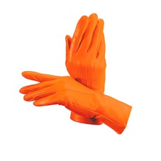 Ladies Cashmere Lined Leather Gloves in Orange. Outlet from Aspinal of London