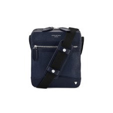 Anderson Midi Messenger Bag in Navy Saffiano
