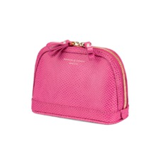 Small Hepburn Cosmetic Case in Raspberry Lizard