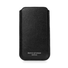 iPhone 6 Plus Leather Sleeve in Black Saffiano