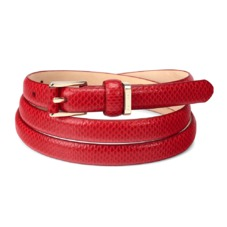 Ladies Skinny Westbourne Belt in Berry Lizard
