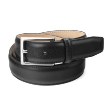 Men's Borough Belt in Black Saffiano