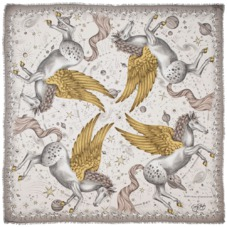 Pegasus Cashmere Blend Scarf in Gold