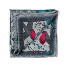 Robin Silk Twill Handkerchief in Midnight Blue