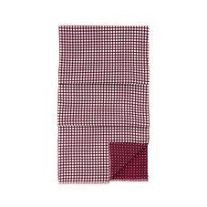 Men's Reversible Polka Dot Scarf in Burgundy