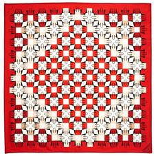 Marylebone Geometric Silk Scarf in Berry