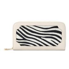 Marylebone Purse in Smooth Ivory & Zebra Haircalf