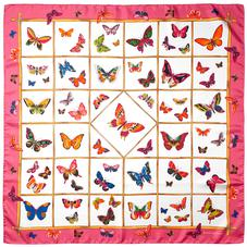 Multi Coloured Butterflies Silk Scarf in Blossom