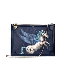 Soho Double Sided Clutch in Pegasus Blue Moon Print