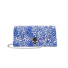 Aspinal x Beulah Blue Heart Clutch in Cobalt Blue