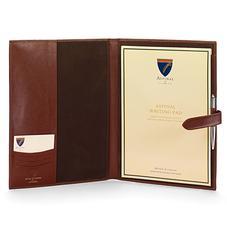 A4 Padfolio in Smooth Cognac & Espresso Suede