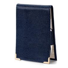 Pocket Memo Pad in Midnight Blue Lizard