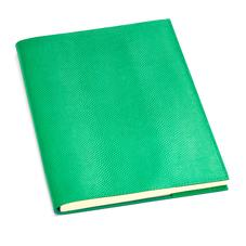 A4 Refillable Leather Journal in Grass Green Lizard