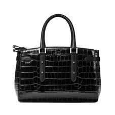 Brook Street Bag in Deep Shine Black Croc