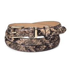 Ladies Skinny Westbourne Belt in Tan Snake