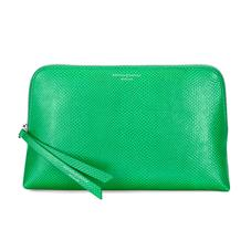 Large Essential Cosmetic Case in Grass Green Lizard