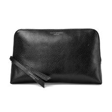 Large Essential Cosmetic Case in Jet Black Lizard