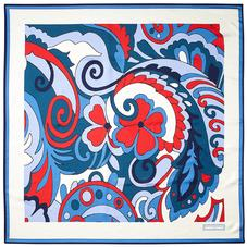 Psychedelic Silk Scarf in Navy