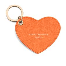 Heart Key Ring in Orange Pebble