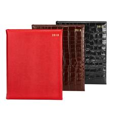 A4 Day per Page Leather Diaries
