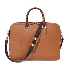 Small Mount Street Bag in Smooth Natural Tan with Smooth Redwood Handles