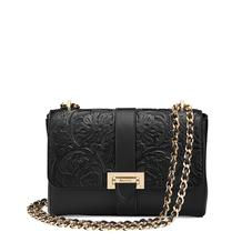 Large Lottie Bag in Black Embossed Flower