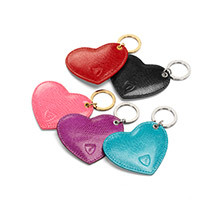 Leather Heart Key Ring. Key Rings & Charms from Aspinal of London